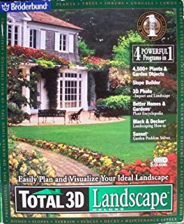 TOTAL 3D Landscape DELUXE (Landscaping & Gardening Software, Easily Plan and Visualize Your Ideal Landscape)