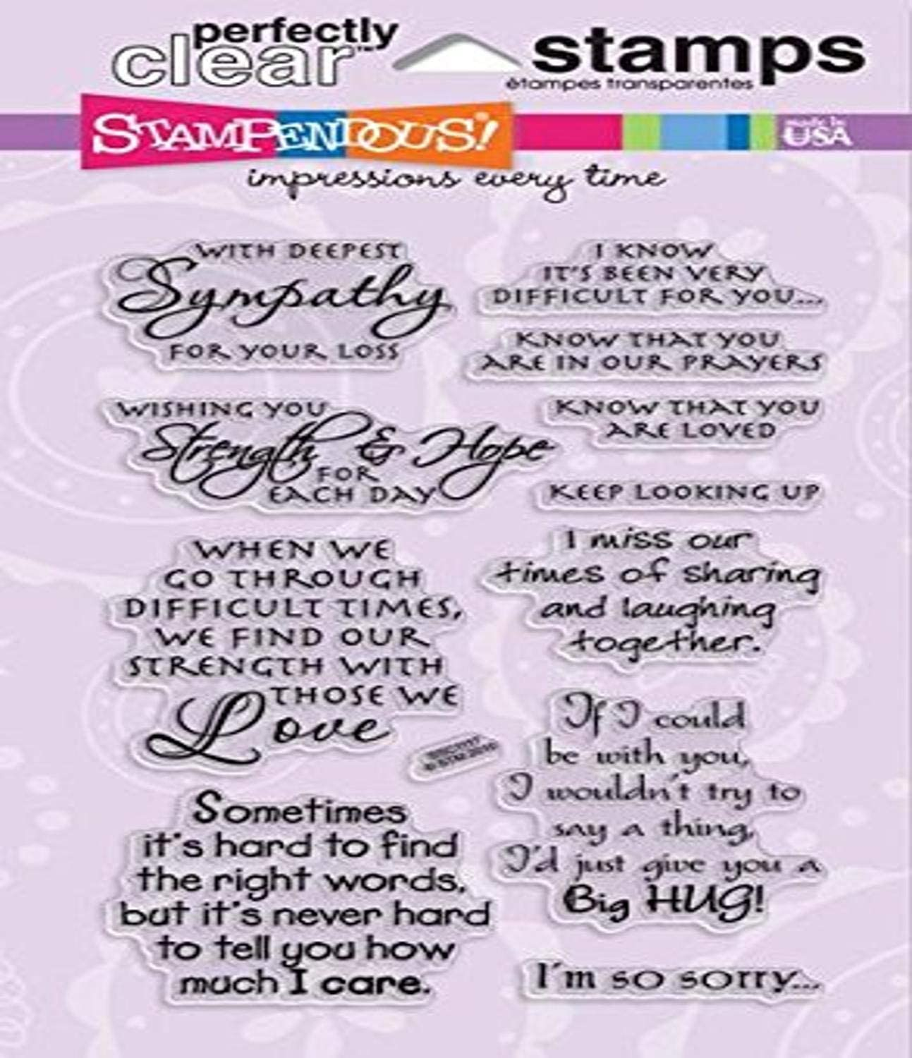 Stampendous Superlatite SSC1117 Perfectly Fashionable Clear Sincere Stamp Sentiments