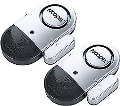 Door Window Alarm 2 Pack Noopel Home Security Wireless Magnetic Sensor Burglar Anti-Theft 120DB Alarm with Batteries Inclu...