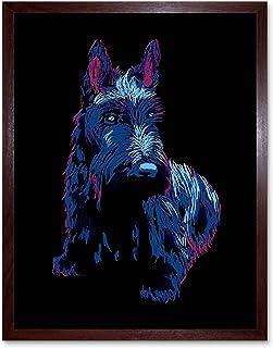 5x7 Watchdog RYTA Scottish Terrier Scottie dog pet humor funny canine interior home house office business decor design decoration art ball