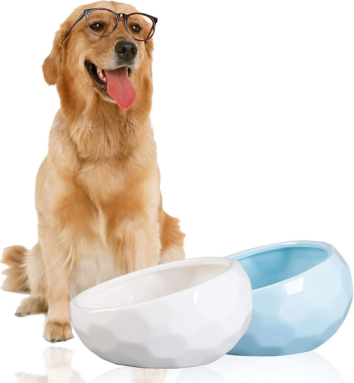 Jemirry Ceramic Dog Bowls Set of 2 Non Slip Skid 7 Very popular Inch Super-cheap Anti