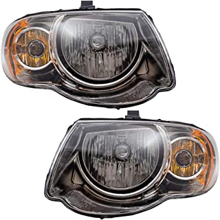Driver and Passenger Halogen Headlights Replacement for 05-07 Town & Country Van with 119