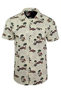 BRAVE SOUL Mens Hawaiian Shirt - Short Sleeved