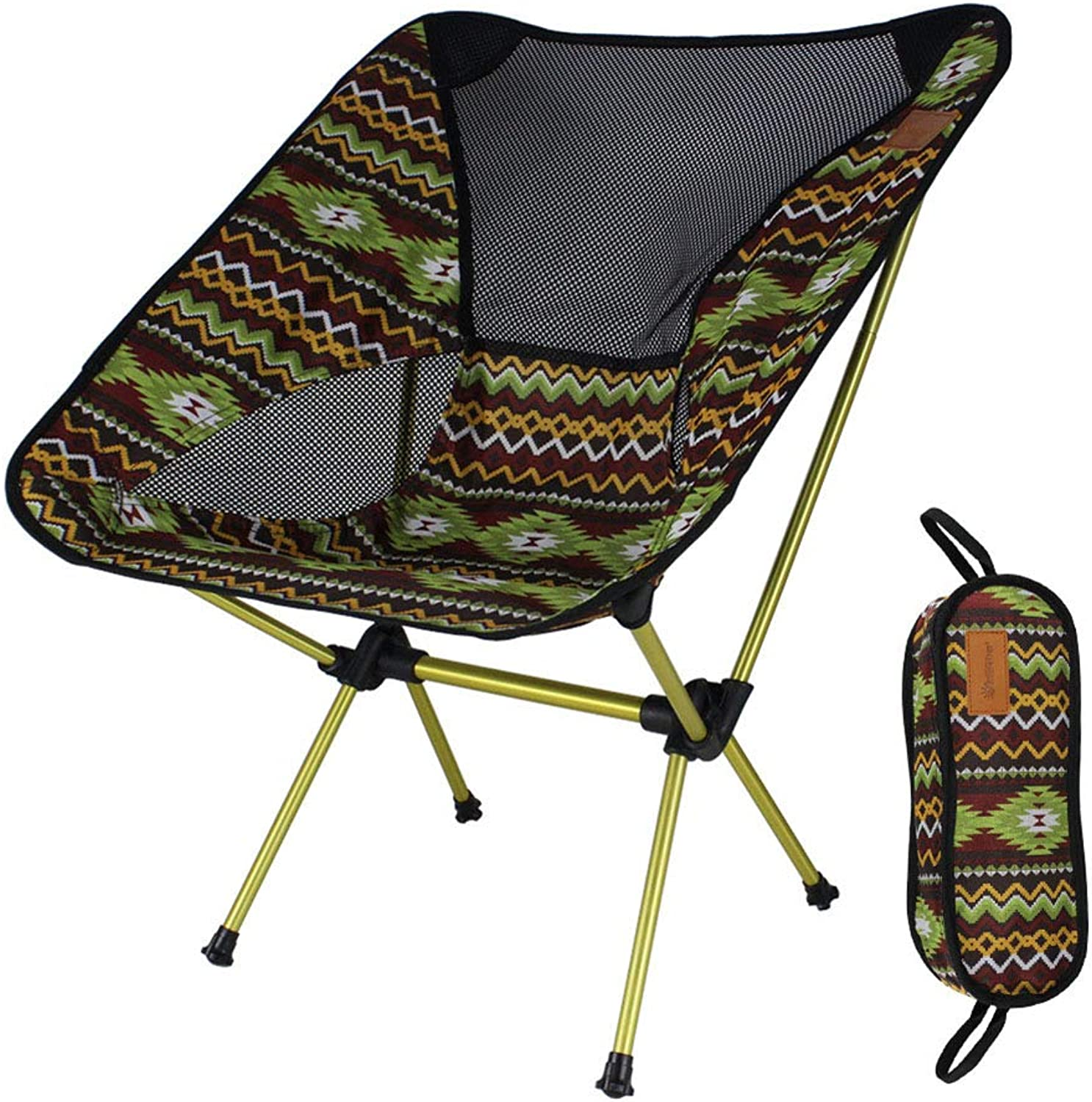 GFEI Mini Portable Folding Stool  Comes with an Outdoor Portable Storage Bag  Outdoor Folding Chair  for BBQ,Camping,Fishing,Travel,Hiking,Garden,Beach,Green