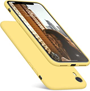 DTTO Case for iPhone XR, [Romance Series] Silicone Case with Hybrid Protection for Apple iPhone XR 6.1 Inch - Yellow