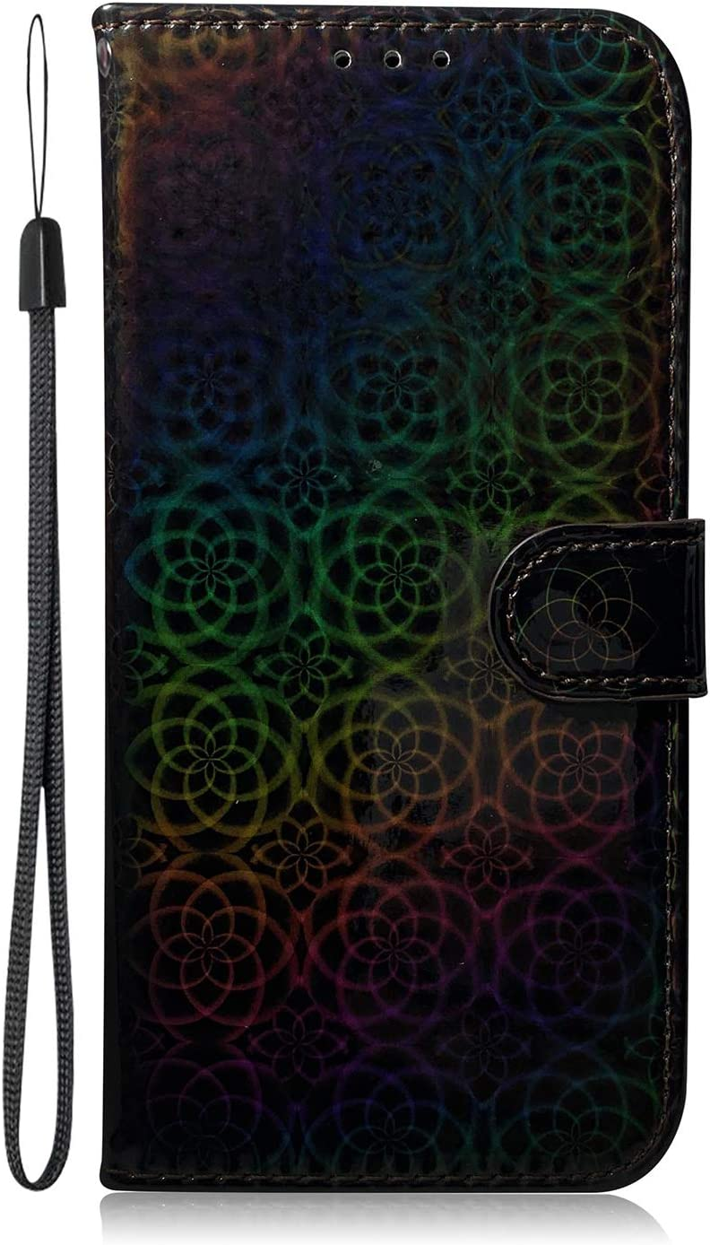 for Max 71% OFF iPhone 6 6S Glitter Wallet Wrist Strap Kansas City Mall Iride Bling Case with