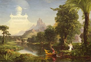 Thomas Cole - The Voyage of Life (Youth), Size 16x24 inch, Poster art print wall décor
