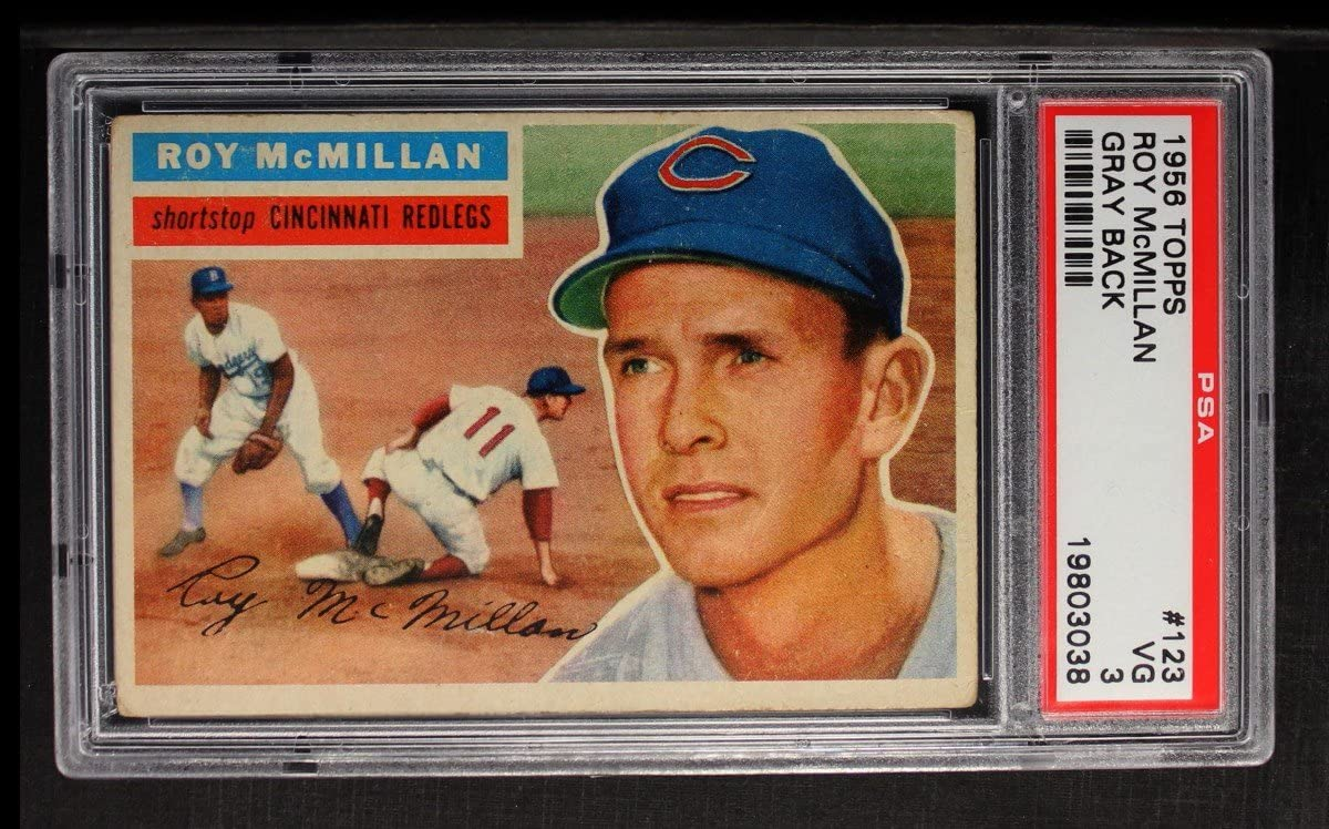 1956 Topps Shipping included # 123 GRY Roy Card Cincinnati Ranking TOP7 Baseball Reds McMillan
