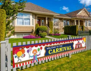 Colormoon Carnival Banner, Large Carnival Party Supplies, Carnival Birthday Party Decorations (9.8 x 1.5 feet)