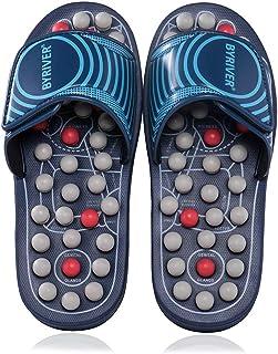 BYRIVER - Zapatillas de estar por casa para mujer Zapatillas de masaje azul