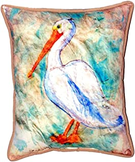 """Betsy Drake SN948 Pelican on Rice Pillow, 11"""" x14"""""""