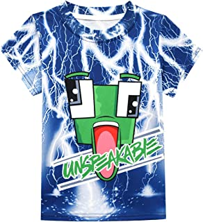 Dotrewes Boys Graphic T-Shirts Summer Tee Shirts Un-Speaka-ble Kids Casual Tees Short Sleeve Tops