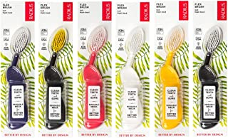 RADIUS - Scuba Right Hand Toothbrush, Soft Bristles, Flex-Neck Technology that Reduces Pressure on Teeth and Gums, Made with Sustainable Materials (Colors May Vary)