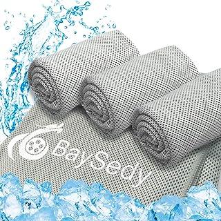 BaySedy 冷却タオル 冷感タオル スポーツタオル 熱中症対策 暑さ対策タオル 3枚グレーセット100×30cm 収納バッグ付き BSDCT303