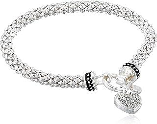 Women's Boxed Bracelet Pave Heart Stretch,...