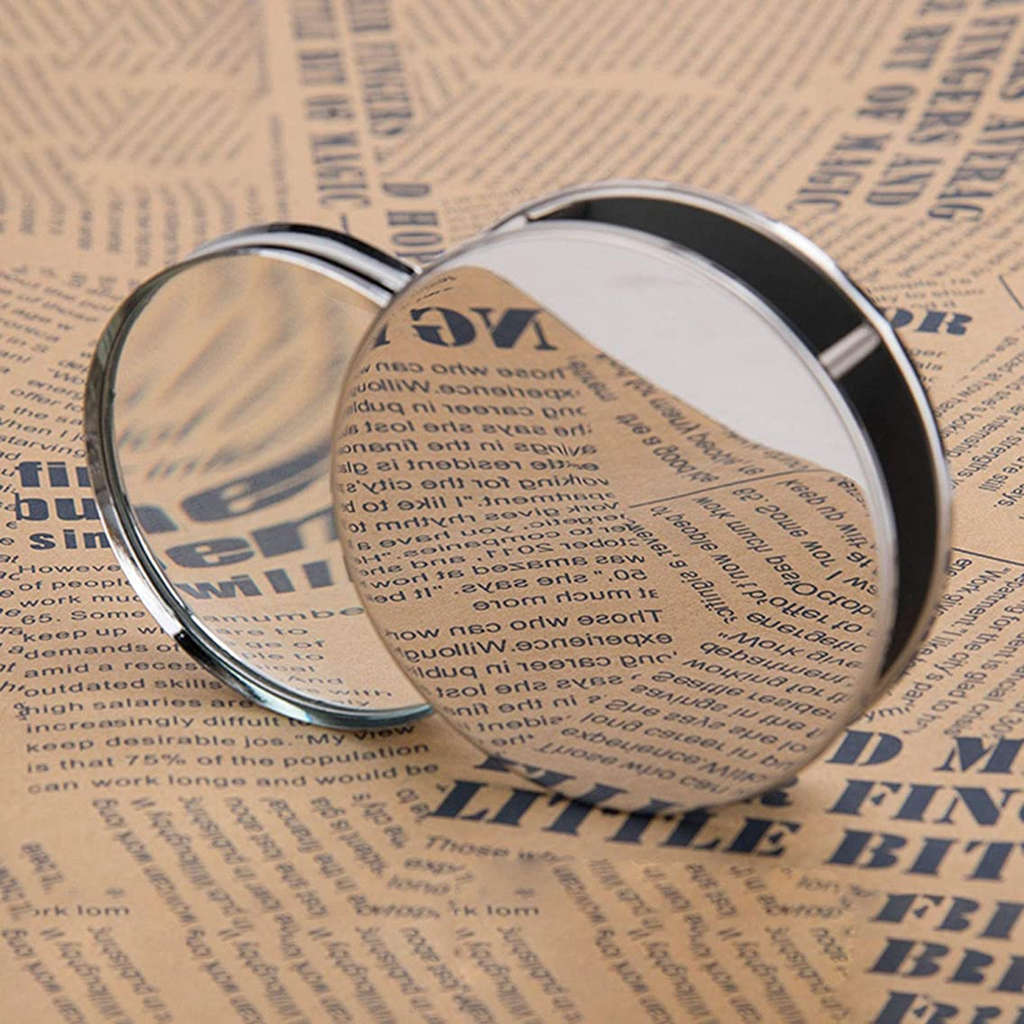 Magnifier Loupes 20X Magnifying Glass Portable Folding Compact Desktop Pocket Magnifier Jewelry Loupe Metal Reading Magnifying Glass Lens Eye Loupe for Inspection Science Office Travel Map Reading