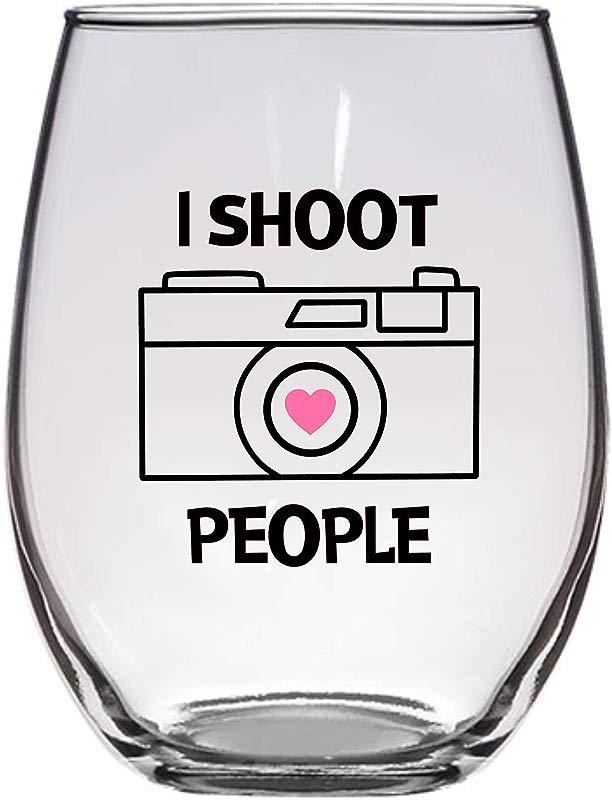 I Shoot People Photographer Wine Glass Large 21 Oz Photography