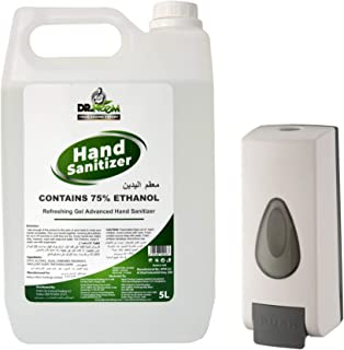Dr. Neem 5 liters Hand Sanitizer, Contains 70% Ethanol Pack with Liquid machine that has 350ml capacity, made of construct...