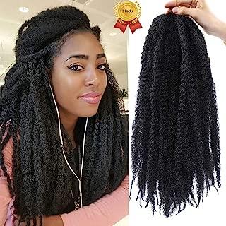 3 Packs Marley Braiding Hair Long 1B Afro Fluffy Hairstyle Crochet Braids Hair Jumbo for Women Black Afro Kinky Marley Twist Crochet Hair Braid 18Inch