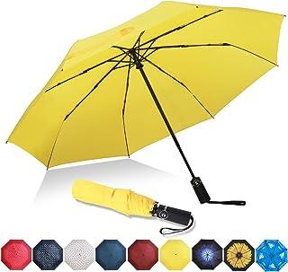 DORRISO Vogue Autom/ático Plegable Paraguas Mujer Hombres Port/átil Viajar Paraguas Antiviento Impermeable Unisexo Paraguas Amarillo