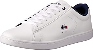 Lacoste Women's Carnaby EVO 119 7 Fashion Shoes, WHT/NVY/RED