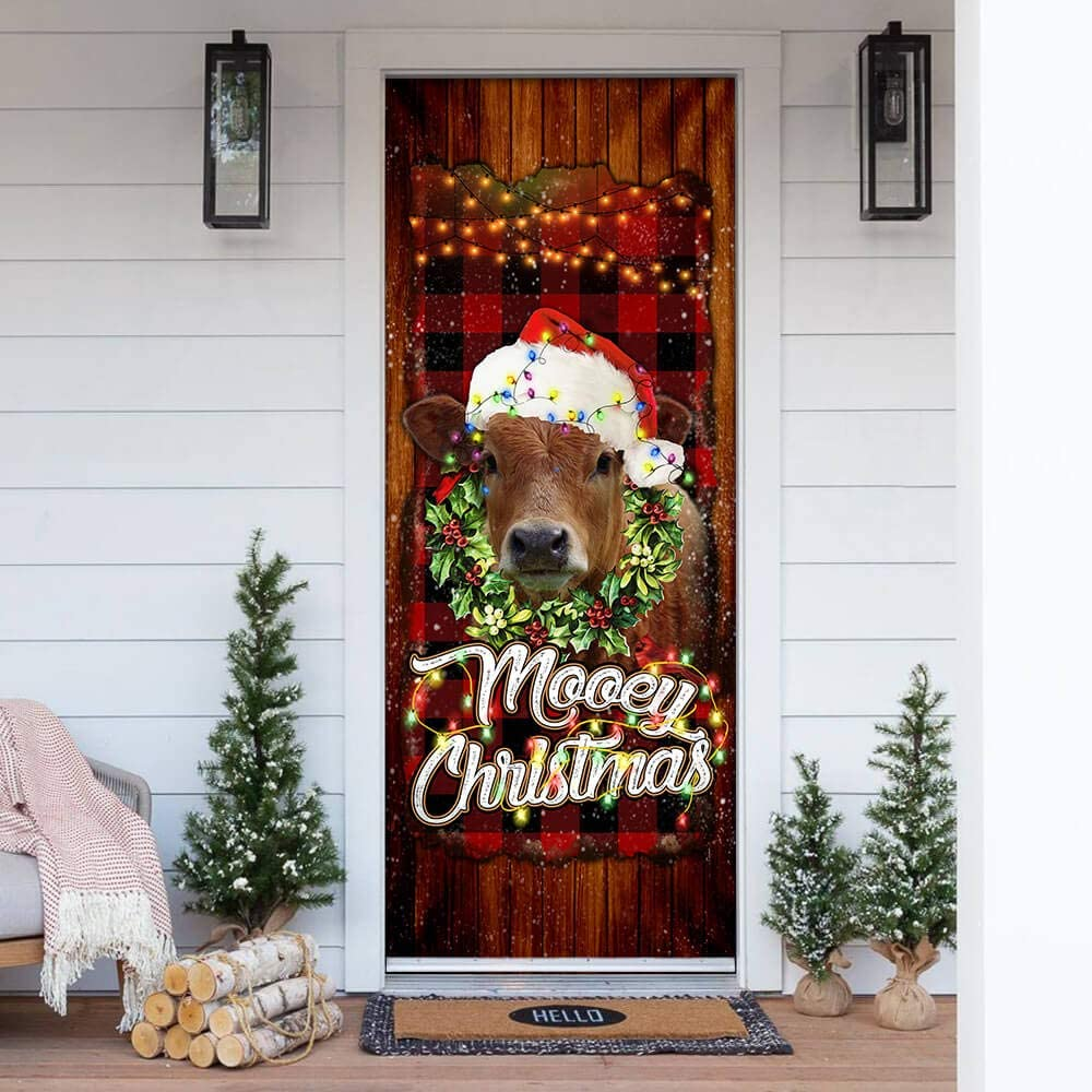 FLAGWIX Door OFFer Covers Printed-Happy Mooey 32 Christmas Max 40% OFF Cover
