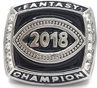 Fantasy Carnival 2018 Fantasy Football Champion Championship Ring Trophy Prize Draft