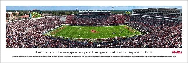 Ole Miss Rebels Football - 50 Yard Line in Vaught-Hemingway Stadium - Blakeway Panoramas Print