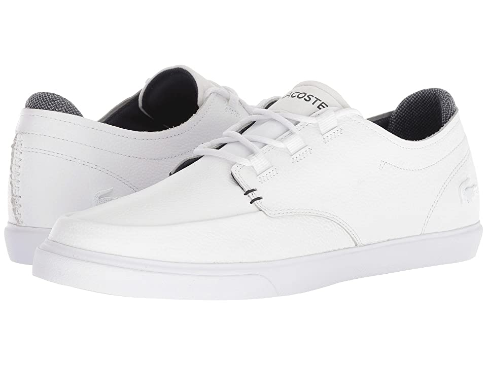 Lacoste Esparre Deck 318 1 (White/Navy) Men