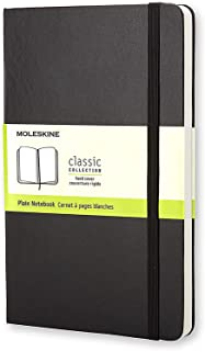 Moleskine Classic Hard Cover Notebook - Plain - Large - Black, (QP062)