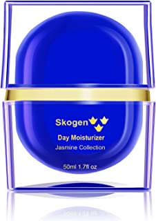 Skogen Premium Day Moisturizer Jasmine Collection Daily Anti-Aging, Deep Moisturizing, Smoothing Skin Care Cream for Wrinkles & Fine Lines, Rich in Vitamins, Protects Against Damaging UV Rays 50ml