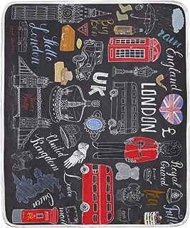 TSWEETHOME UK London Elements Fleece Blanket Super Soft Warm Lightweight Bed or Couch Sofa Blanket Throw Blanket (50
