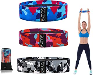 EKOOS Resistance Bands for Legs and Butts, Booty Bands, Exercise Bands Set for Home Fitness, Stretching, Pilates, Yoga,Fab...