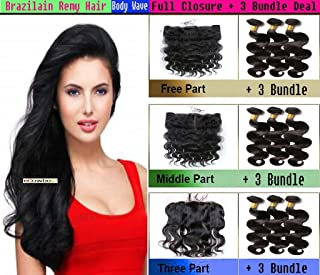 eCowboy GREAT DEAL 3 Bundle Pack virgin Remy BODY WAVE with 13