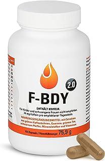 Vihado F-BDY 2.0 – kapsułki do normalnego przemiany materii z roślinnymi i witaminami – pobudzające ekstrakt z zielonej ka...