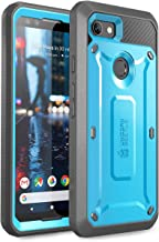 SUPCASE Unicorn Beetle Pro Series Case for Google Pixel 3, Full-Body Rugged Holster Case with Built-in Screen Protector for Google Pixel 3 2018 Release - Retail Package (Blue)