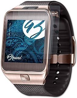 Bruni Skärmskydd är kompatibel med Samsung Gear 2 Neo Film, kristallklart Skyddsfilm (2X)