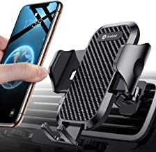 Andobil Car Phone Mount Easy Clamp, Ultimate Hands-Free Air Vent Cell Phone Holder for Car, One Touch Cradle Compatible for iPhone 11 Pro Max 8 Plus X XR XS Max Samsung Galaxy S10 S9 S8 Note 10 9 More