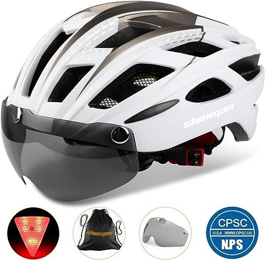 71PEmWNh+EL. AC SL520  - Shinmax Fahrradhelm,CE-Zertifikat,Fahrradhelm mit Abnehmbarer Schutzbrille Visier für Herren Damen Erwachsene Radhelm Einstellbarer...