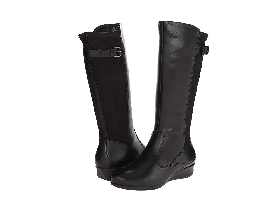 ECCO Abelone Tall Boot (Black/Black) Women