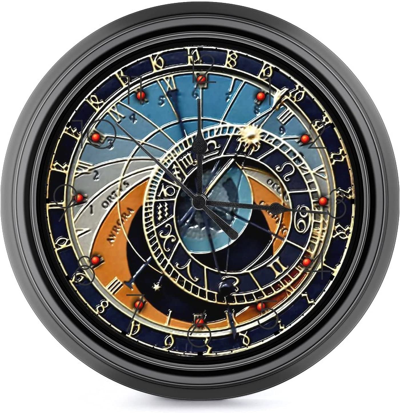 FGHGJ Decorative Fort Worth Mall Wall Clock Non-Ticking Quartz Outstanding Silent On