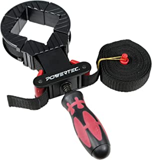 POWERTEC 71101 Deluxe Quick Release Band Clamp   Woodworking Frame Clamping Strap Holder