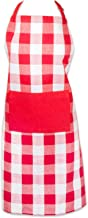 DII Cotton Buffalo Check Table Runner for Family Dinners or Gatherings, Indoor or Outdoor Parties, & Everyday Use, Red, Apron