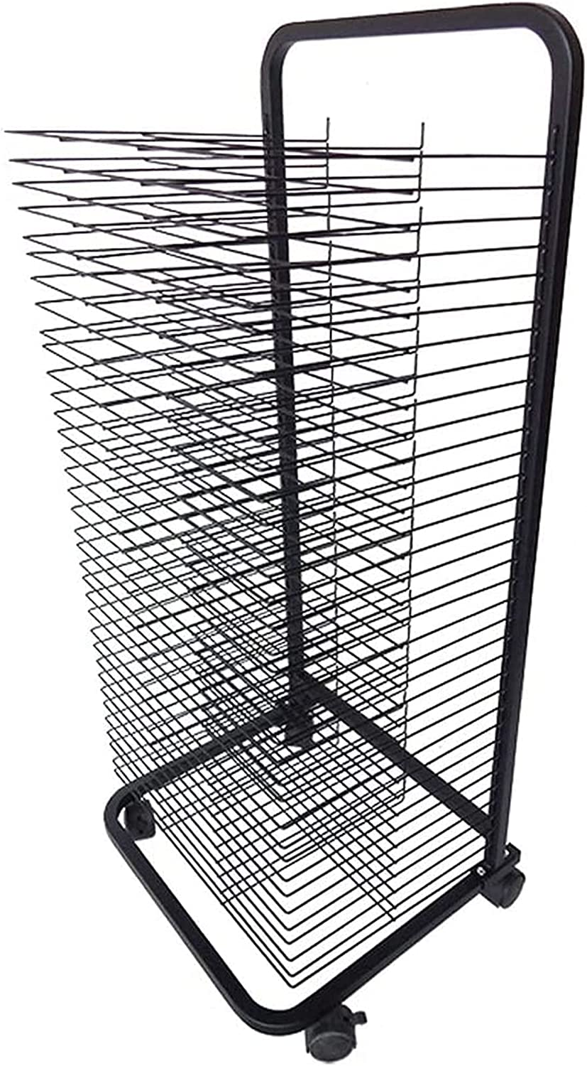 YSCMX Mesa Mall San Diego Mall Drying Rack 35-Shelf Mobile Wire Art with She