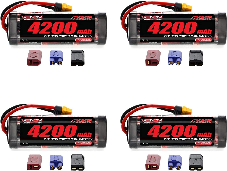 Venom 7.2v 4200mAh 6Cell NiMH Battery with Universal Plug System x4 Packs
