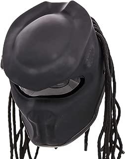 Predator Motorcycle Helmet - DOT Approved - Unisex - Matte Black Dark