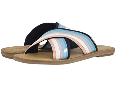 TOMS Viv (Navy Multi Canvas/Translucent Stripe) Women
