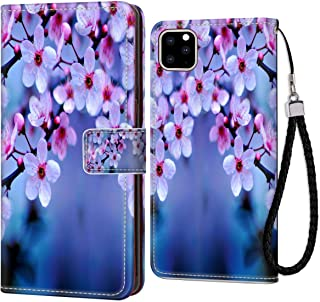 Apple iPhone 11 Cherry Blossom Wallpaper Leather Wallet Case (6.1inch) Shock Absorbent