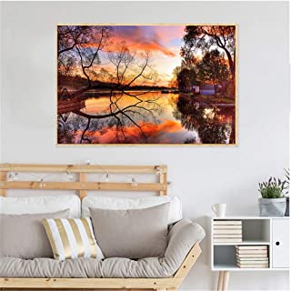 Canvas Prints Wall Art,Beach Home Decor Wall Art Pictures Sunset Landscape Waterfront Nature Canvas Painting Posters And P...