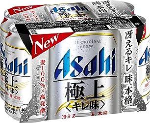 アサヒ 極上(キレ味) 缶 [ 350ml×6本 ]